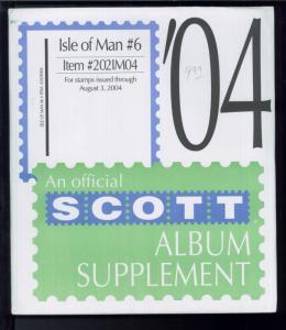 2004 Isle of Man #6 Scott Stamp Album Collection Supplement Pages Item #202IM04