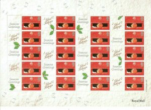LS2 GB 2000 Christmas Robins - Smiler sheet UNMOUNTED MINT