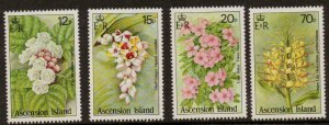ASCENSION SG389/92 1985 WILD FLOWERS MNH