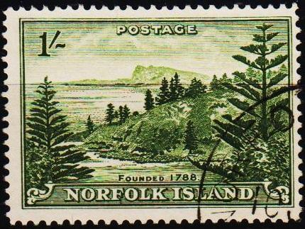 Norfolk Island.1947 1s S.G.11 Fine Used