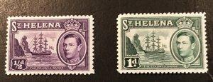 St. Helena Scott 118-119 KGVI Definitives -Mint