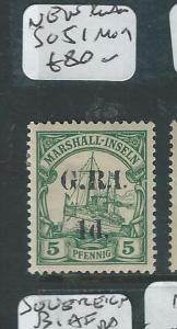 NEW BRITAIN (P3112B) ON MARSHALL ISLANDS 1D/5PF SG 51  MOG