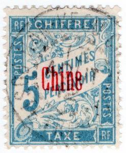 (I.B) France Colonial Postal : China Post Tax 5c