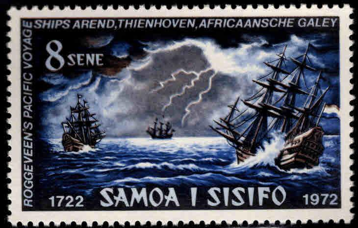 Samoa Scott  366 MNH** 1972 Ships in storm stamp