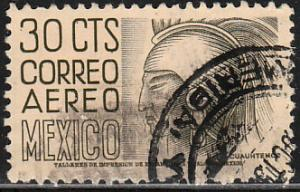 MEXICO C210, 30cts 1950 Definitive 2nd Printing wmk 300 HORIZ USED. F-VF. (959)