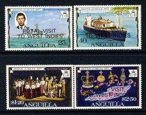 ANGUILLA QE II 1977 Complete Royal Visit Overprint Set SG 298 to SG 301 MNH