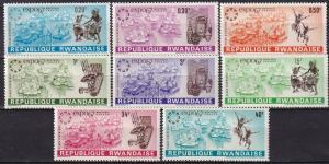 Rwanda #225-32  MNH CV $2.70 (A19241)