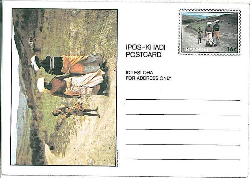 ETHNIC \ FOLKLORE \ COSTUME -  POSTAL STATIONERY - TRANSKEI