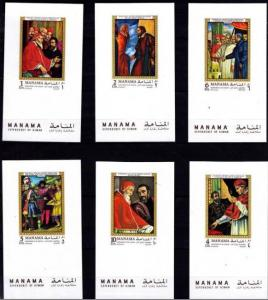 MANAMA 6 SHEETS DELUXE ART PAINTINGS MICHELANGELO