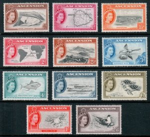 Ascension QEII 1956 Part Set to 2/6 SG57/67 Mint MLH