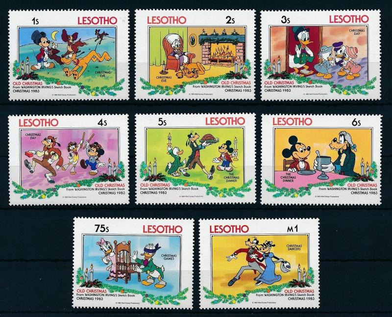 [22293] Lesotho 1983 Disney The Sketch Book MNH