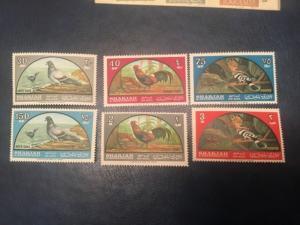 Sharjah #C28-33 XF NH Free Shipping (Bk1-34) birds
