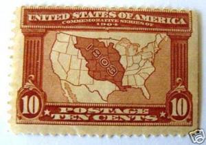 USA 327: 10c Louisiana Purchase, M, HR, SE