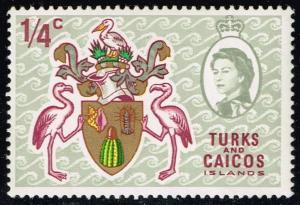 Turks & Caicos #181 Coat of Arms; Unused (0.25)