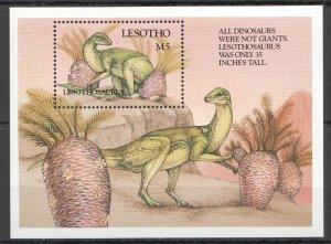 K1120 LESOTHO DINOSAURS LESOTHOSAURUS PREHISTORIC ANIMALS 1BL MNH