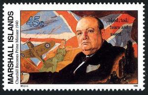 Marshall 251,MNH. Mi 302.WW II,W.Churchill becomes Prime Minister,May 1940,1990.