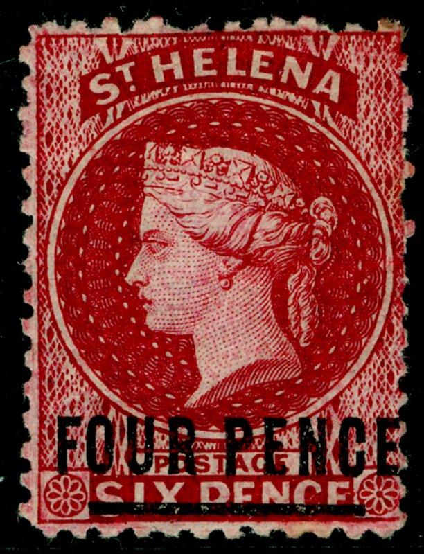 ST. HELENA SG14, 4d carmine, M MINT. Cat £150.