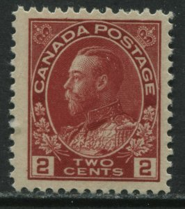 Canada 1911 KGV 2 cents Admiral unmounted mint NH