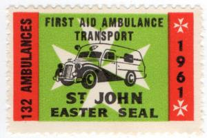 (I.B) Cinderella Collection : St John Ambulance Charity Label (1961)