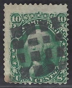 USA #68 Used  Washington 1861 Scott CV$55.00.