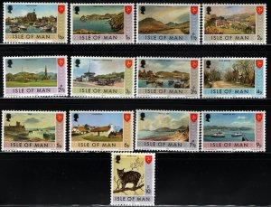 ISLE OF MAN 12-24 MNH LAND SCAPES ISSUE 1973