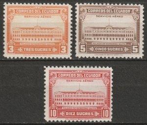 Ecuador 1944 Sc C128-30 air post set MH*
