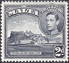 Malta # 195 mnh ~ 2p Victoria and the Citadel, dark gray