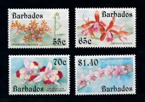 [79810] Barbados 1992 Flora Flowers Blumen Orchids  MNH