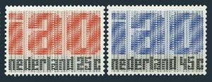 Netherlands 458-459,MNH.Michel 912-913. Royal IAO.ILO,50th Ann.1969.