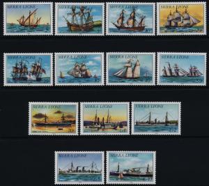 Sierra Leone 639a-52a MNH Ships