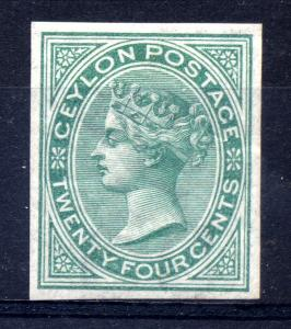 Ceylon 1872-80 Stunning set of imperforate imprimaturs (plate proofs) with gu...