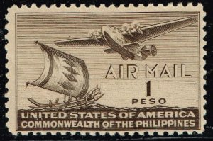 Philippines Stamp #C62 1P. 1941 AIR MAIL UNUSED NG STAMP