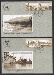 Serbia 2020 Italy Navy for Serbian Army History WW1 First World War Ships FDC