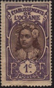 French Polynesia 21 Tahitian Girl 1913