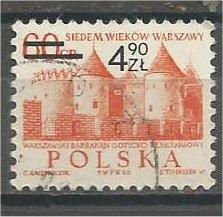 POLAND, 1972, used 4.90z on 60g, Surcharged, Scott 1926