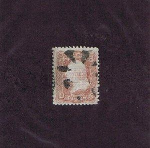 SC# 85 USED, 3 CENT WASHINGTON 1868, GOOD CATALOG VALUE, 2020 PSAG CERT, F-VF