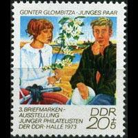 DDR 1973 - Scott# B172 Young Couple Set of 1 NH