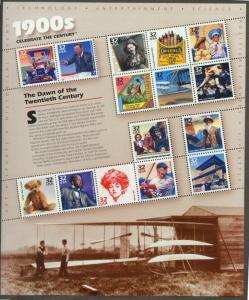 1998 sheet Celebrate the Century 1900s Sc# 3182
