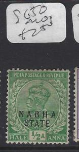 INDIA  NABHA  (P2410B)   KGV  1/2A     SG 50        MOG