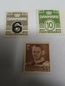 Denmark Mint Hinged No Hinge #325 & More