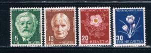 Switzerland B150-53 MNH Set (S0307)