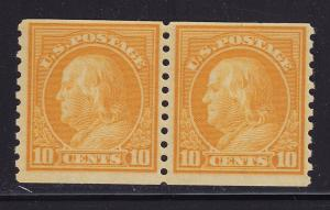 497 Pair F-VF mint original gum never hinged with nice color cv $ 85 ! see pic !