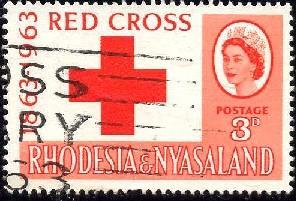 Intl. Red Cross Centenary, Rhodesia & Nyasaland SC#188 used