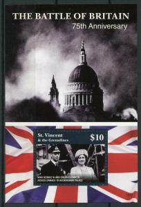 St Vincent & Grenadines 2015 MNH WW2 WWII Battle of Britain 75th 1v S/S Stamps