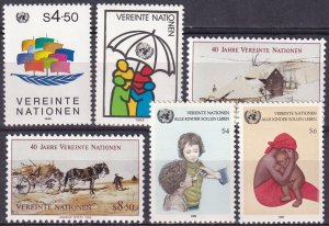 United Nations Vienna #50-3, 55-6  MNH CV $6.75 (Z3177)