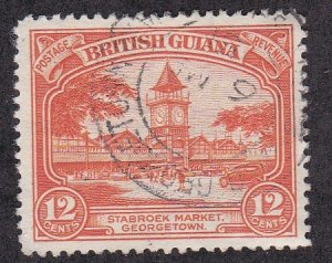 British Guiana # 215, Stabrock Market Place, Used, 1/3 Cat.