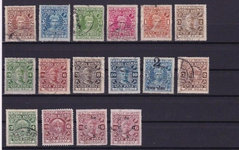 INDIA STATES COCHIN ANCHAL STAMPS