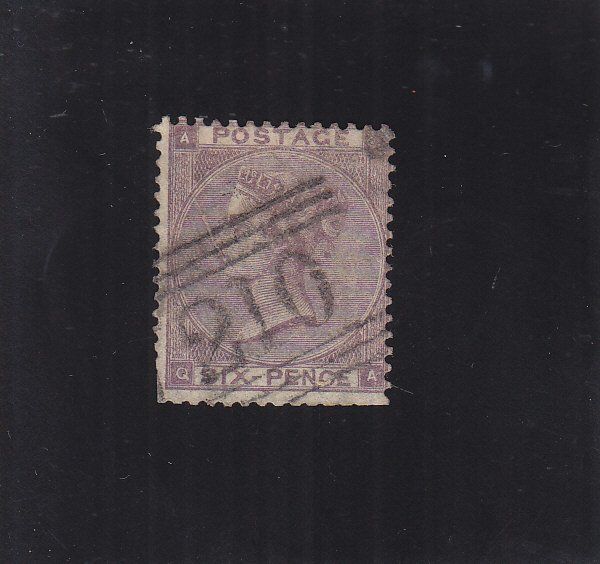 Great Britain: Sc #63, Used, Hinge Remnant, A-Q (S18840)