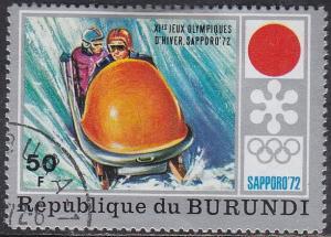 Burundi 393 Hinged CTO 1972 Sapporo Emblem & Bobsledding