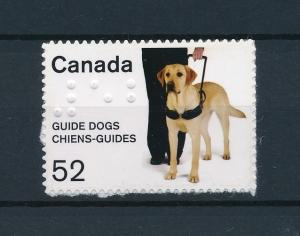 [39039] Canada 2008 Animals Blind Guide dog Braille Self Adhesive MNH
